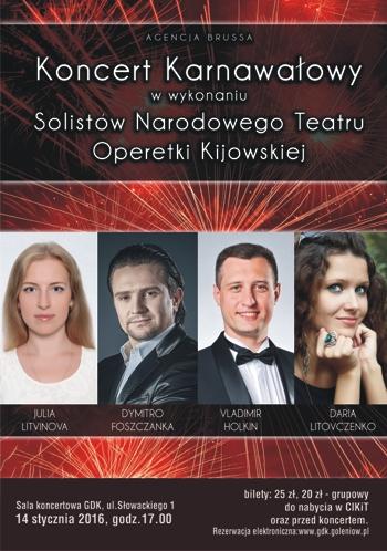 Koncert karnawałowy z Operetką Kijowską